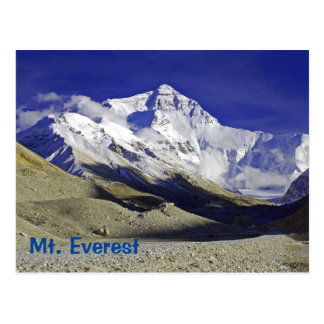 Mt. Everest Base Camp Tibetan side Postcard