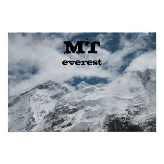 MT Everest by Interestingly Posters