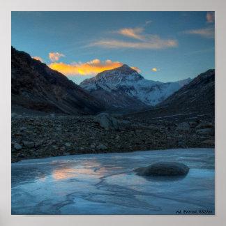 Mt Everest HDR Mt Everest 8838m Poster