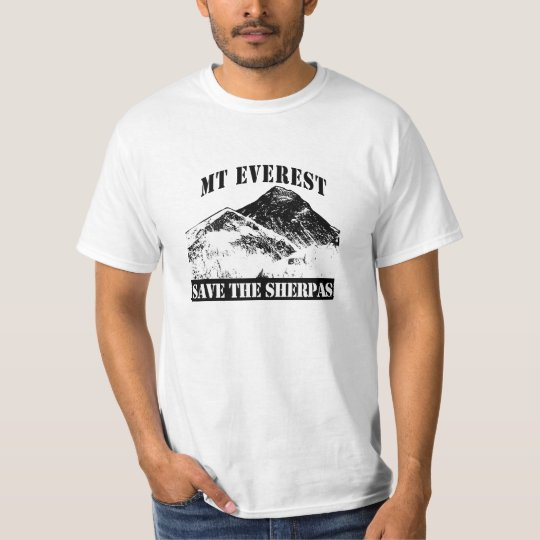 Mt Everest Save the Sherpas T-shirt design