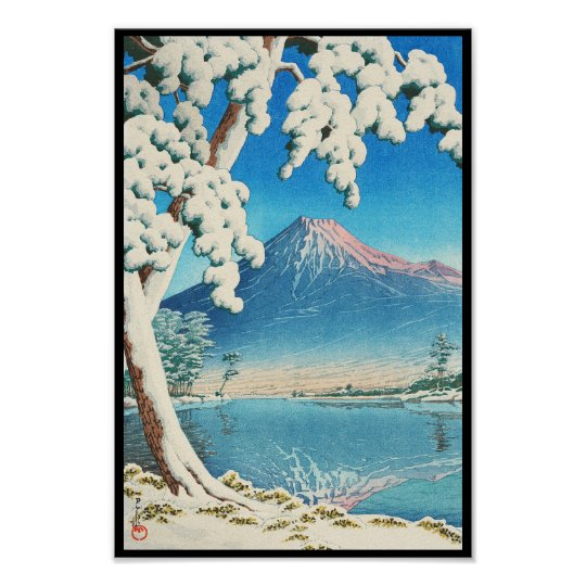 Mt. Fuji After Snow Hasui Kawase shin hanga