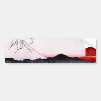 Mt. Fuji and Birds in Japan circa 1800s Bumper Sticker