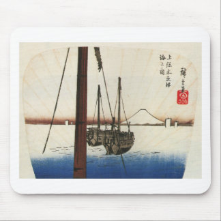 Mt Fuji and Boats Japan Circa 1800 s Mouse Pads