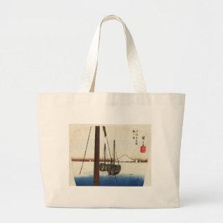 Mt. Fuji and Boats. Japan. Circa 1800's Bag