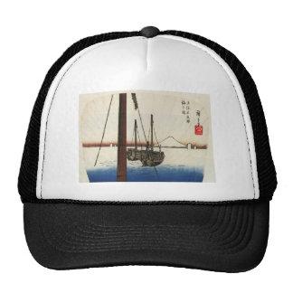 Mt. Fuji and Boats. Japan. Circa 1800's Hat