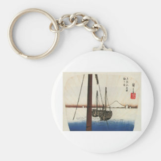 Mt. Fuji and Boats. Japan. Circa 1800's Key Chains