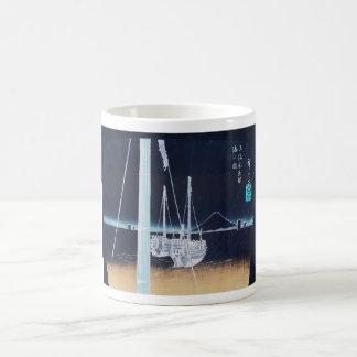 Mt. Fuji and Boats. Japan. Circa 1800's Coffee Mug