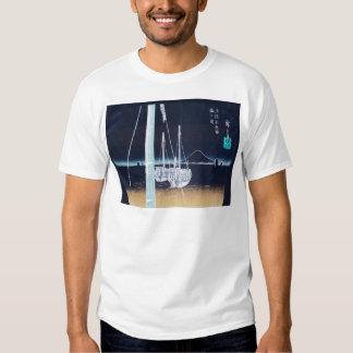 Mt. Fuji and Boats. Japan. Circa 1800's Tshirts