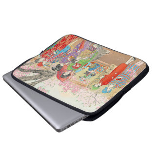 Mt Fuji and the Cherry Blossoms on Asuka Hill art Computer Sleeves