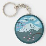 Mt. Fuji Basic Round Button Key Ring