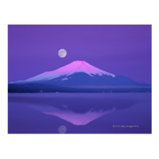 Mt. Fuji Below Moon Postcard