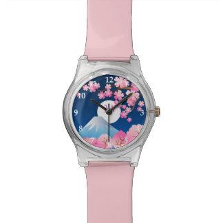 Mt Fuji Cherry Blossoms Spring Japan Night Sakura Watch