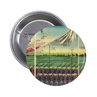 Mt Fuji circa 1860 s Pinback Buttons