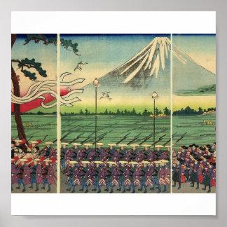 Mt Fuji circa 1860 s Poster