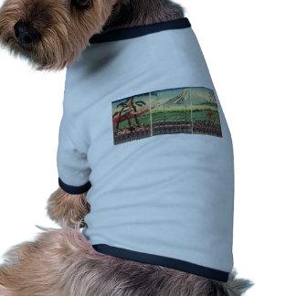 Mt. Fuji circa 1860's Dog Tshirt