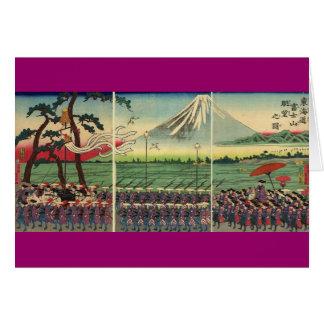 Mt. Fuji circa 1860's Greeting Card