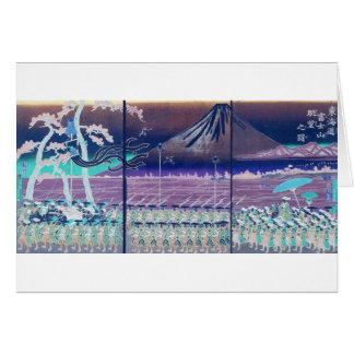 Mt. Fuji circa 1860's. Japan. Greeting Card