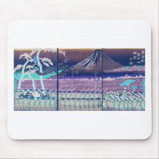 Mt. Fuji circa 1860's. Japan. Mousepads