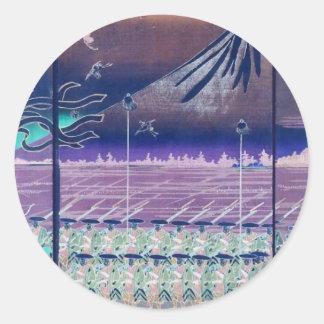 Mt. Fuji circa 1860's. Japan. Round Stickers
