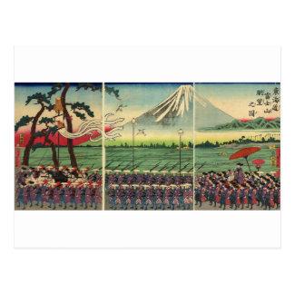 Mt. Fuji circa 1860's Postcard