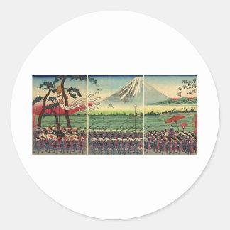 Mt. Fuji circa 1860's Round Sticker