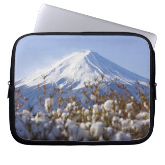 Mt. Fuji covered with snow Laptop Sleeve