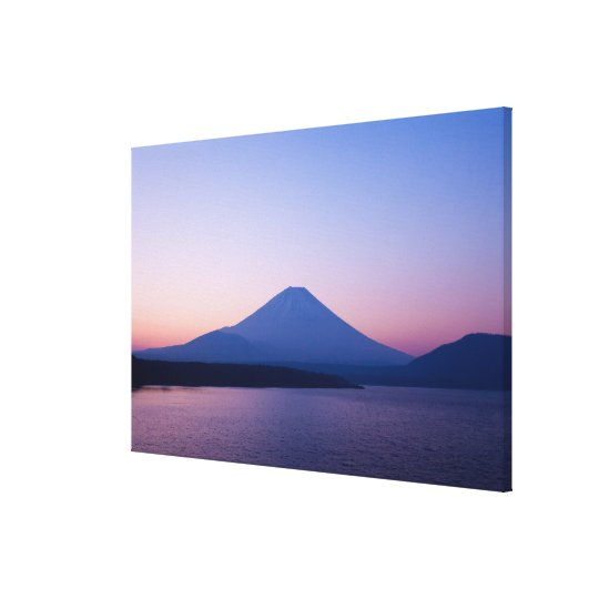 Mt. Fuji from lake Motosu Canvas Print