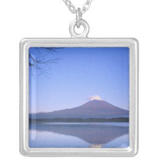 Mt. Fuji from Motosu Lake, Yamanashi, Japan Silver Plated Necklace