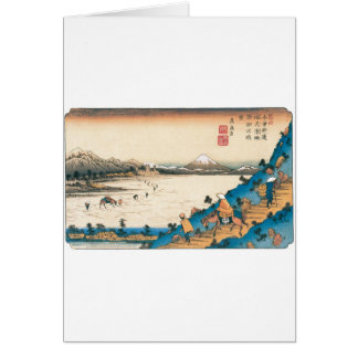 Mt. Fuji, Fuji-san. Japan. Circa 1800's. Greeting Card
