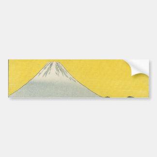 Mt Fuji in Japan circa 1800 s Bumper Stickers