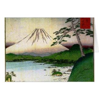 Mt Fuji in Japan circa 1800 s Cards