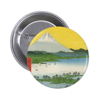 Mt Fuji in Japan circa 1800 s Pinback Buttons