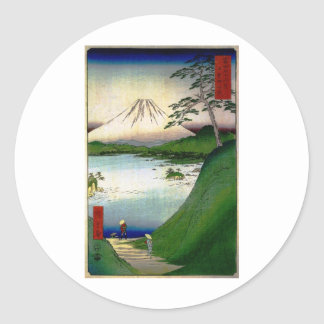 Mt Fuji in Japan circa 1800 s Round Stickers
