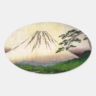 Mt Fuji in Japan circa 1800 s Sticker