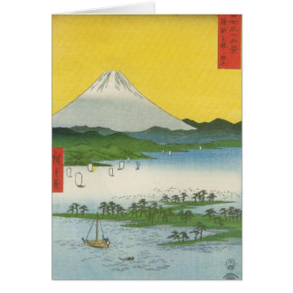 Mt. Fuji in Japan circa 1800's Greeting Card