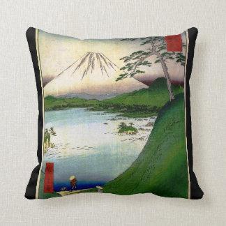 Mt. Fuji in Japan circa 1800's Cushions