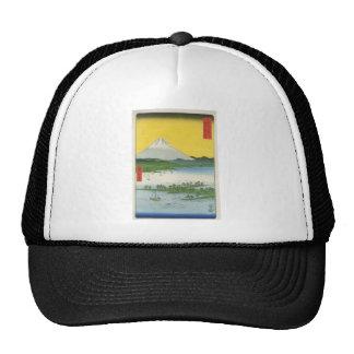 Mt. Fuji in Japan circa 1800's Hats