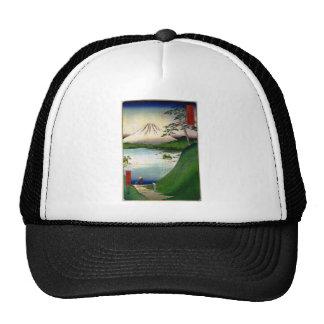 Mt. Fuji in Japan circa 1800's Mesh Hats