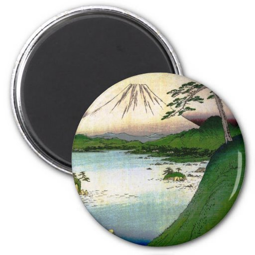 Mt. Fuji in Japan circa 1800's Refrigerator Magnets