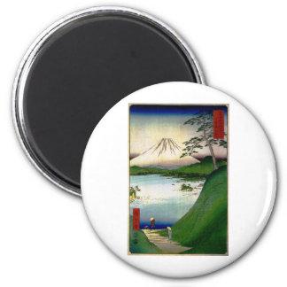 Mt. Fuji in Japan circa 1800's Refrigerator Magnet