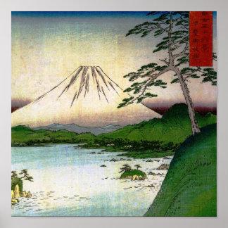 Mt. Fuji in Japan circa 1800's Print