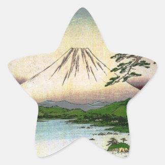 Mt. Fuji in Japan circa 1800's Star Sticker