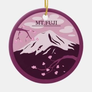 Mt. Fuji (Pink) Round Ceramic Decoration