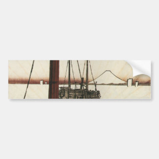 Mt Fuji viewed from a Boat circa 1800s Bumper Sticker