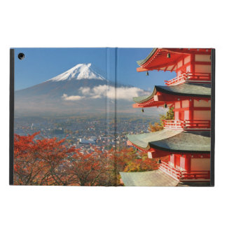 Mt. Fuji viewed from behind Chureito Pagoda iPad Air Cover