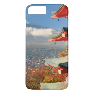 Mt. Fuji viewed from behind Chureito Pagoda iPhone 8 Plus/7 Plus Case