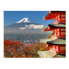 Mt. Fuji viewed from behind Chureito Pagoda Postcard