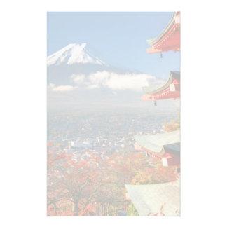 Mt. Fuji viewed from behind Chureito Pagoda Stationery Paper