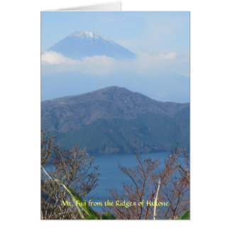 Mt. Fuji Viewed from Hakone Greeting Card