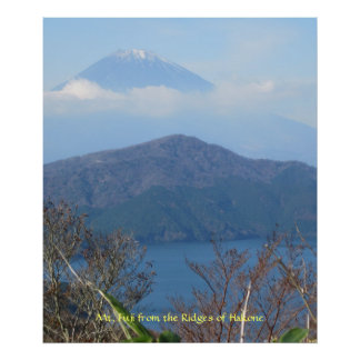 Mt. Fuji Viewed from Hakone Poster